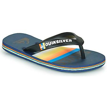 Schoenen Kinderen Slippers Quiksilver MOLOKAI SLAB Blauw / Orange / Zwart