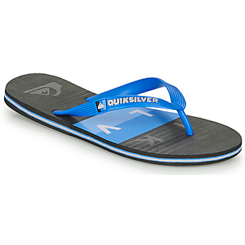 Schoenen Heren Slippers Quiksilver MOLOKAI WOLRDBLOCK Blauw / Zwart
