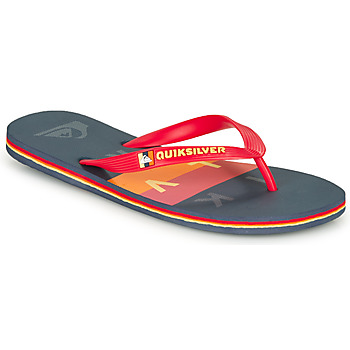Schoenen Heren Slippers Quiksilver MOLOKAI WOLRDBLOCK Blauw / Rood