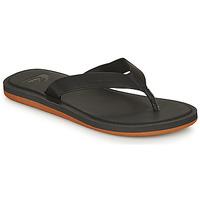 Schoenen Heren Slippers Quiksilver MOLOKAI NUBUCK II Zwart