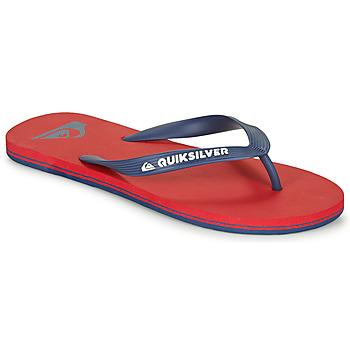 Schoenen Heren Slippers Quiksilver MOLOKAI Rood / Marine