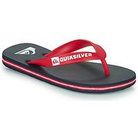 Schoenen Kinderen Slippers Quiksilver MOLOKAI YOUTH Blauw / Rood