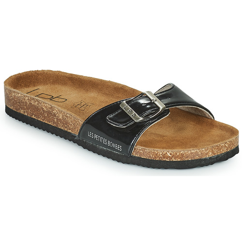 Schoenen Dames Leren slippers Les Petites Bombes ROSA Zwart
