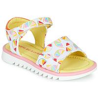 Schoenen Meisjes Sandalen / Open schoenen Agatha Ruiz de la Prada SMILES Wit / Multikleuren