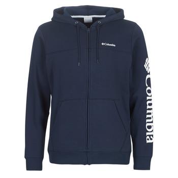 Textiel Heren Sweaters / Sweatshirts Columbia Columbia Logo Fleece Full zip  collegiate / Navy