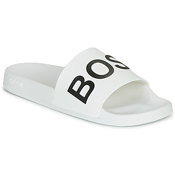 Schoenen Heren Slippers BOSS BAY SLID RBLG Wit / Zwart