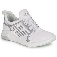 Schoenen Lage sneakers Emporio Armani EA7 RACER REFLEX CC Wit / Zilver