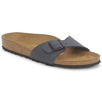 Schoenen Dames Leren slippers Birkenstock MADRID Navy