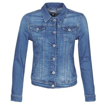 Textiel Dames Spijker jassen Pepe jeans THRIFT Blauw / Medium / Hb6
