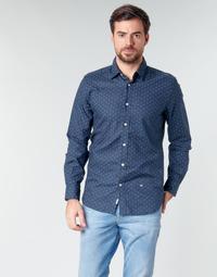 Textiel Heren Overhemden lange mouwen Pepe jeans ADAN Marine