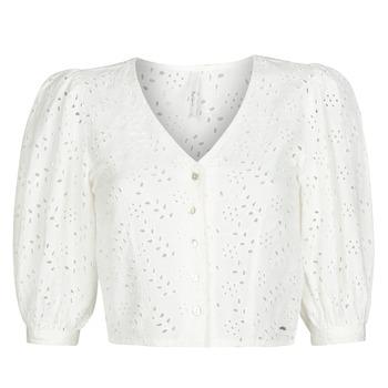Textiel Dames Tops / Blousjes Pepe jeans CLAUDIE Wit
