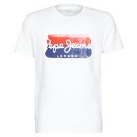 Textiel Heren T-shirts korte mouwen Pepe jeans MILBORN Wit