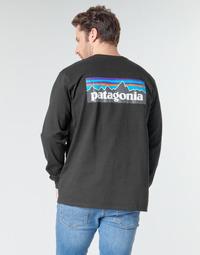 Textiel Heren T-shirts met lange mouwen Patagonia M's L/S P-6 Logo Responsibili-Tee Zwart