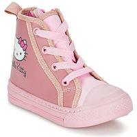 Schoenen Meisjes Hoge sneakers Hello Kitty TANSIOUR Roze