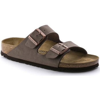 Schoenen Heren Leren slippers Birkenstock Arizona bf Brown