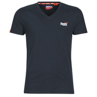 Textiel Heren T-shirts korte mouwen Superdry ORANGE LABEL VNTGE EMB VEE TEE Eclipse / Navy