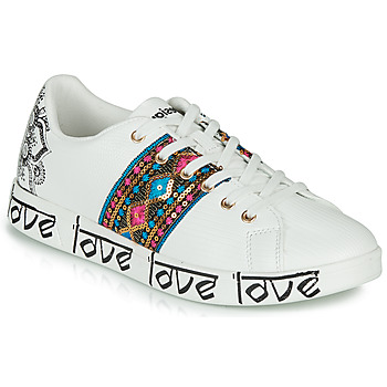 Schoenen Dames Lage sneakers Desigual COSMIC EXOTIC INDIAN Wit