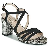 Schoenen Dames Sandalen / Open schoenen Metamorf'Ose GABARIT Zwart / Python