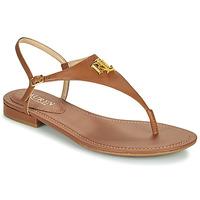 Schoenen Dames Sandalen / Open schoenen Lauren Ralph Lauren ELLINGTON SANDALS CASUAL Cognac