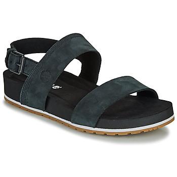 Schoenen Dames Sandalen / Open schoenen Timberland MALIBU WAVES 2BAND SANDAL Zwart