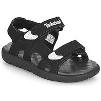 Schoenen Kinderen Sandalen / Open schoenen Timberland Perkins Row 2-Strap Zwart