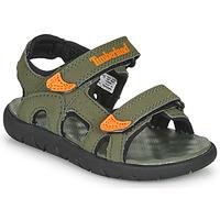 Schoenen Kinderen Sandalen / Open schoenen Timberland Perkins Row 2-Strap Groen / Orange