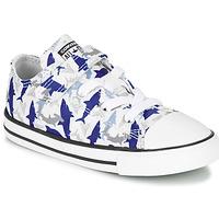 Schoenen Jongens Lage sneakers Converse CHUCK TAYLOR ALL STAR 1V SHARK BITE - OX Blauw / Wit