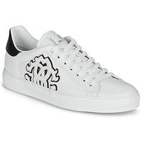 Schoenen Heren Lage sneakers Roberto Cavalli 1005 Wit / Zwart