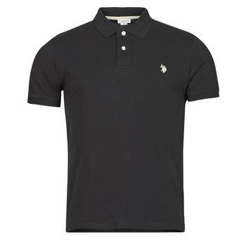Textiel Heren Polo's korte mouwen U.S Polo Assn. INSTITUTIONAL POLO Zwart