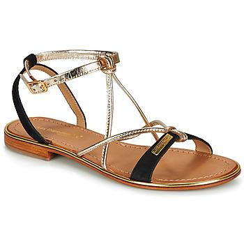 Schoenen Dames Sandalen / Open schoenen Les Tropéziennes par M Belarbi HIRONBUC Zwart / Goud