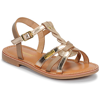 Schoenen Meisjes Sandalen / Open schoenen Les Tropéziennes par M Belarbi BADAMI Beige / Goud