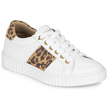 Schoenen Meisjes Lage sneakers Bullboxer LORIS Wit / Leopard