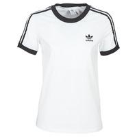 Textiel Dames T-shirts korte mouwen adidas Originals 3 STR TEE Wit