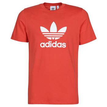 Textiel Heren T-shirts korte mouwen adidas Originals TREFOIL T-SHIRT Rood / Luxuriant