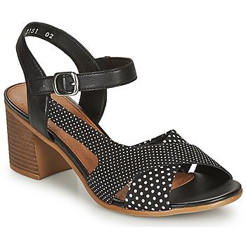 Schoenen Dames Sandalen / Open schoenen Remonte Dorndorf MOSKI Zwart / Wit