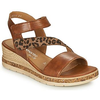 Schoenen Dames Sandalen / Open schoenen Remonte Dorndorf HERNENDEZ Cognac / Leopard