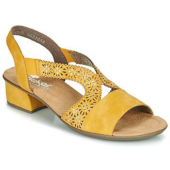 Schoenen Dames Sandalen / Open schoenen Rieker NOUCK Geel