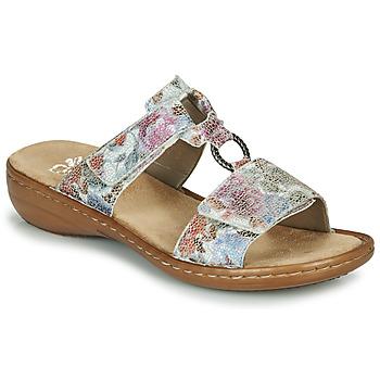 Schoenen Dames Leren slippers Rieker MOLA Multikleuren