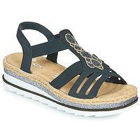 Schoenen Dames Sandalen / Open schoenen Rieker LOUANN Zwart