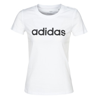 Textiel Dames T-shirts korte mouwen adidas Performance E LIN SLIM T Wit