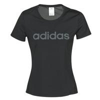 Textiel Dames T-shirts korte mouwen adidas Performance D2M LO TEE Zwart