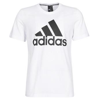 Textiel Heren T-shirts korte mouwen adidas Performance MH BOS Tee Wit