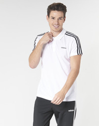 Textiel Heren Polo's korte mouwen adidas Performance M D2M CLA 3S PO Wit
