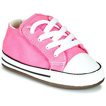 Schoenen Meisjes Hoge sneakers Converse CHUCK TAYLOR FIRST STAR CANVAS HI Roze