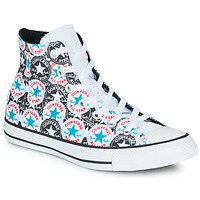 Schoenen Dames Hoge sneakers Converse Chuck Taylor All Star Logo Play Wit / Zwart / Multi