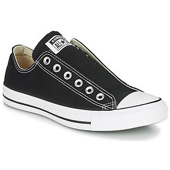 Schoenen Dames Instappers Converse Chuck Taylor All Star Slip Core Basics Zwart
