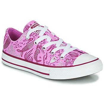 Schoenen Meisjes Hoge sneakers Converse CHUCK TAYLOR ALL STAR UNDERWATER PARTY Roze / Multi