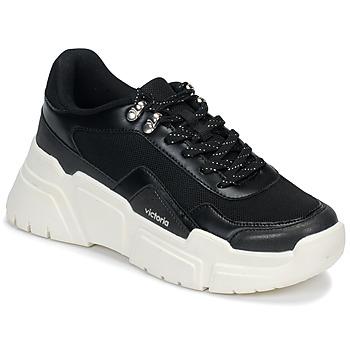 Schoenen Dames Lage sneakers Victoria TOTEM Zwart / Wit