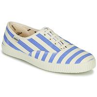 Schoenen Dames Lage sneakers Victoria NUEVO RAYAS Wit / Blauw