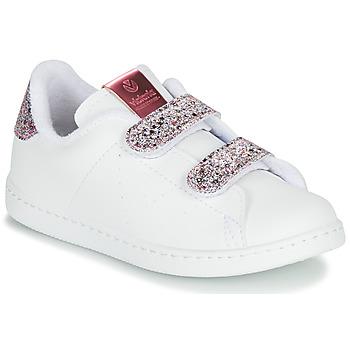 Schoenen Meisjes Lage sneakers Victoria TENIS VELCRO G Wit
